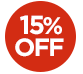 OFFER > 15% off selected products - The price displayed INCLUDES the 15% discount