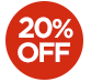 OFFER > 20% off selected products - The price displayed INCLUDES the 20% discount