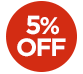 OFFER > 5% off selected products - The price displayed INCLUDES the 5% discount