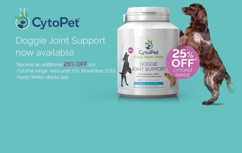 Cytoplan range of supplements for pets